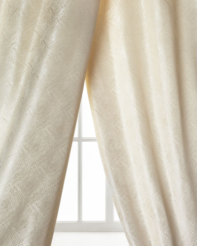 Dian Austin Couture Home Polygon Curtain, Ivory, 96