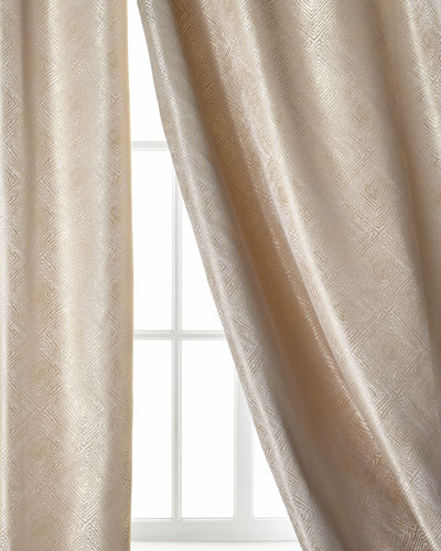 Polygon Curtain, Taupe, 108