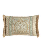 LOUISE OBLONG PILLOW WITH FR