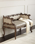 Jaxson Leather Bench