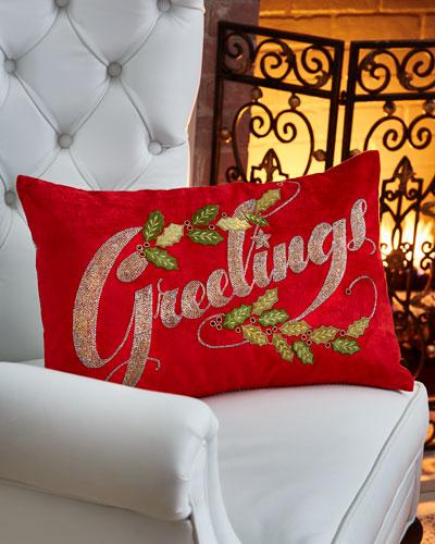Greetings Pillow