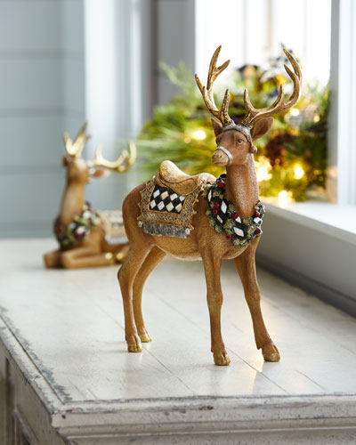 Standing Tawny Stag Figurine
