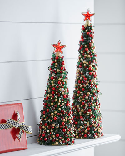 Tartan Frost Beaded Christmas Tree, 18