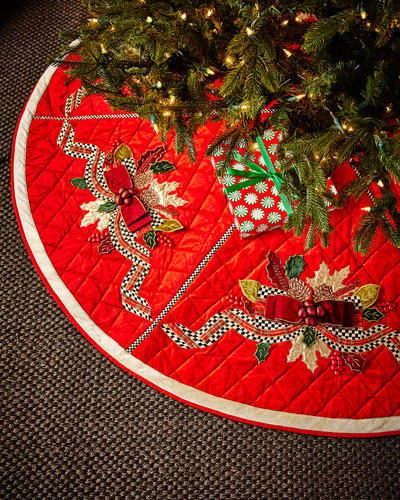 MacKenzie - Childs Tartan Frost Tree Skirt