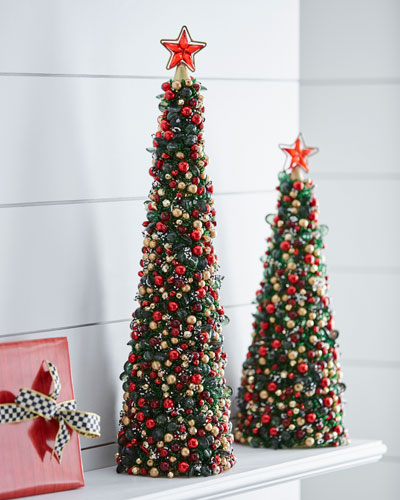 Tartan Frost Beaded Christmas Tree, 24