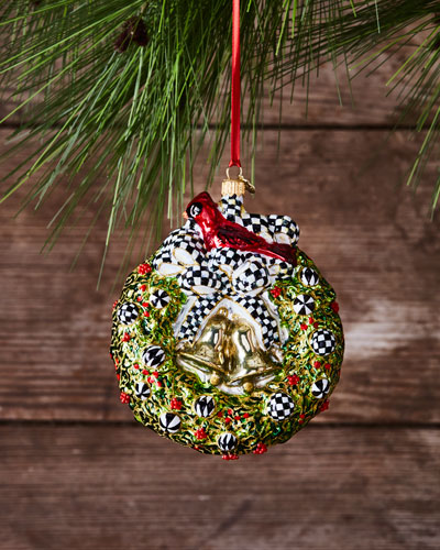2017 Wreath Glass Ornament