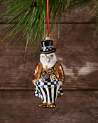 Steampunk Mr. Fowler Glass Ornament