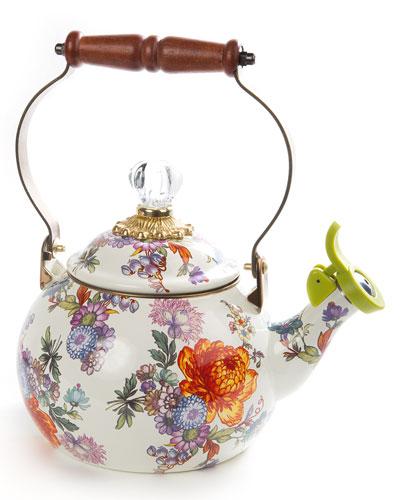 Flower Market Whistling Tea Kettle