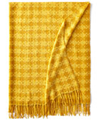 Houndstooth Throw, Gold