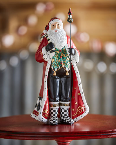 Holly Father Christmas Figurine, 12.5