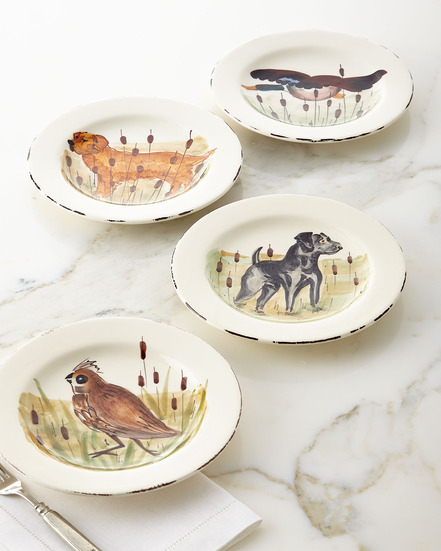 Vietri Dinnerwares 4 ASSORTED WILDLIFE SALAD PLATES