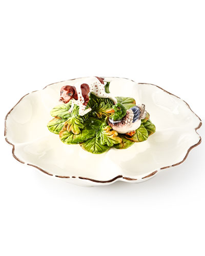 Wildlife 5-Section Serving Dish with Hunting Dog