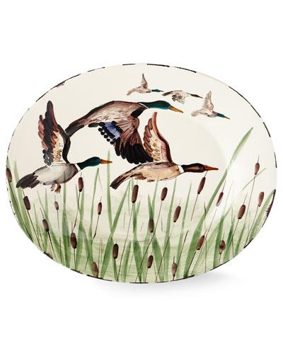Wildlife Mallard Large Oval Platter