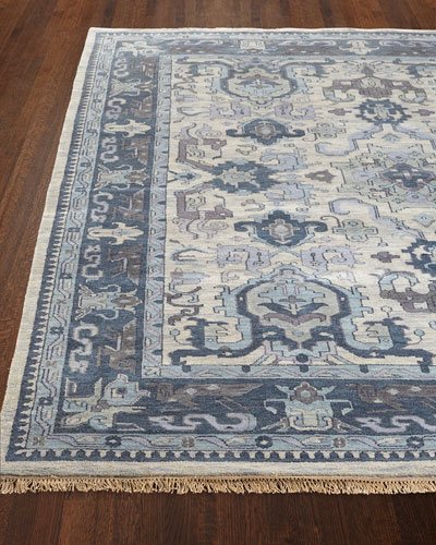 Castle Hand-Knotted Rug, 8' Round