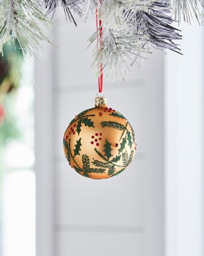 Christborn Wegner Red & Green Collection Matte Golden / Mistletoe Ornament