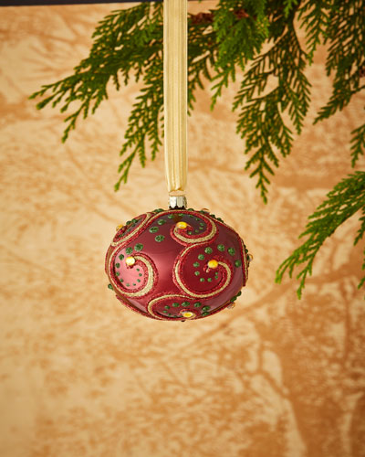 Christborn Wegner Gold & Glitter Collection Matte Golden / Silvery Glitter Ornament