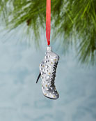 Gray Boot with Faux Jewels Ornament