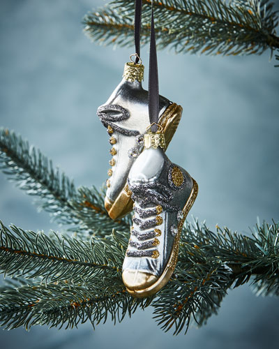 Silver Sneakers Christmas Ornament