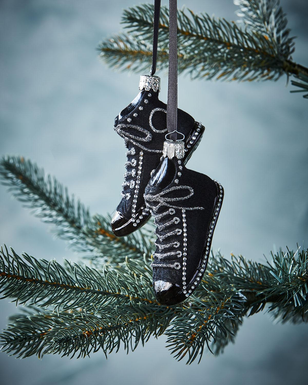 Black Sneaker Christmas Ornament