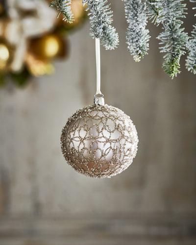 White & Silver Collection Swirl Ornament