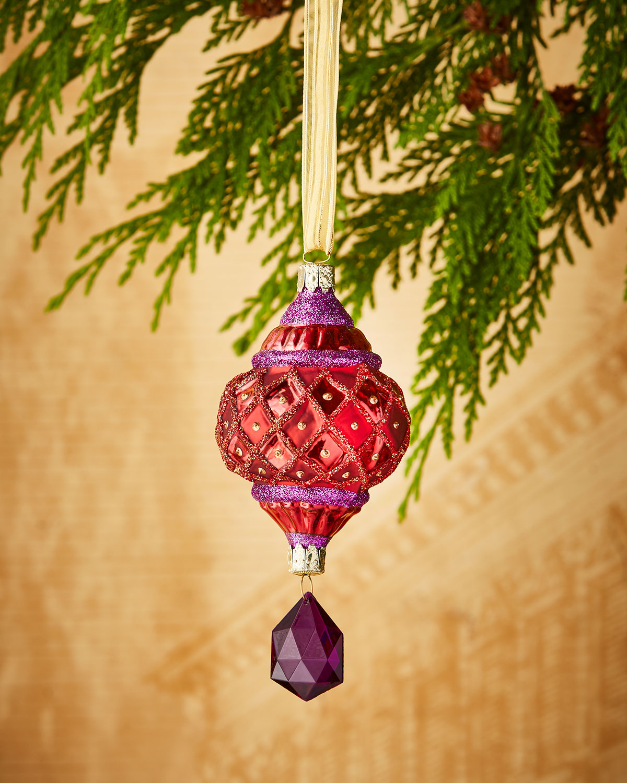 Faux-Jewel Drop Christmas Ornament