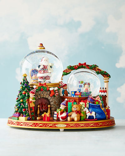 It Takes a Village Snow Globe
