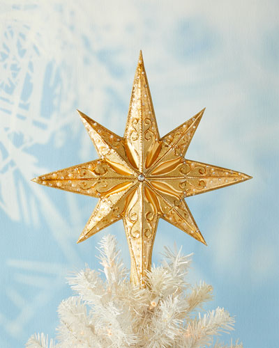 Champagne Stellar Christmas Tree Topper
