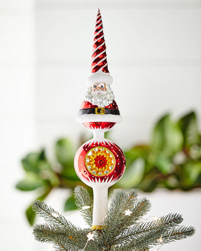 Swirl Santa Finial Tree Topper