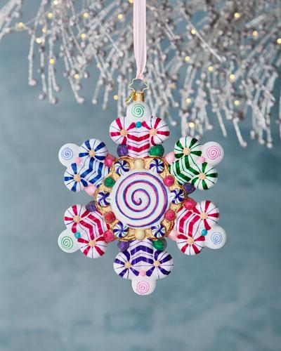 Candy Shop Snowflake Christmas Ornament