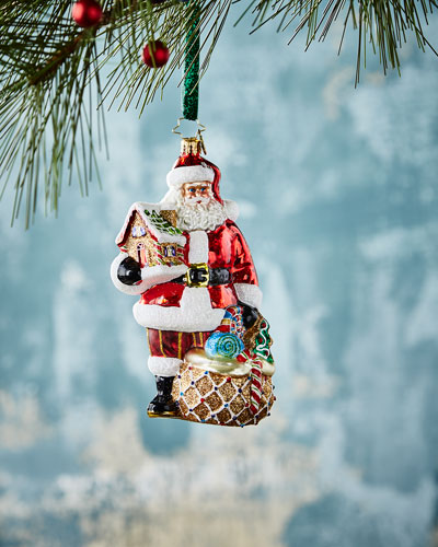 Gingerbread Jubilee Santa Ornament