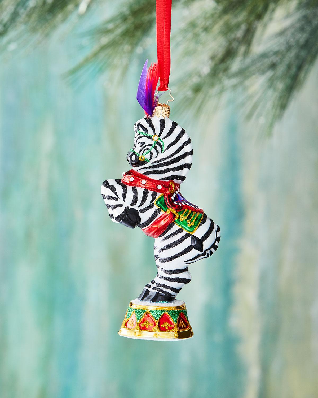 Zebra Zinger Christmas Ornament