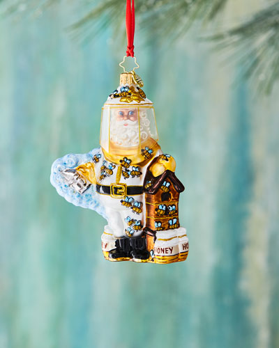 Bee Calm, Santa! Christmas Ornament