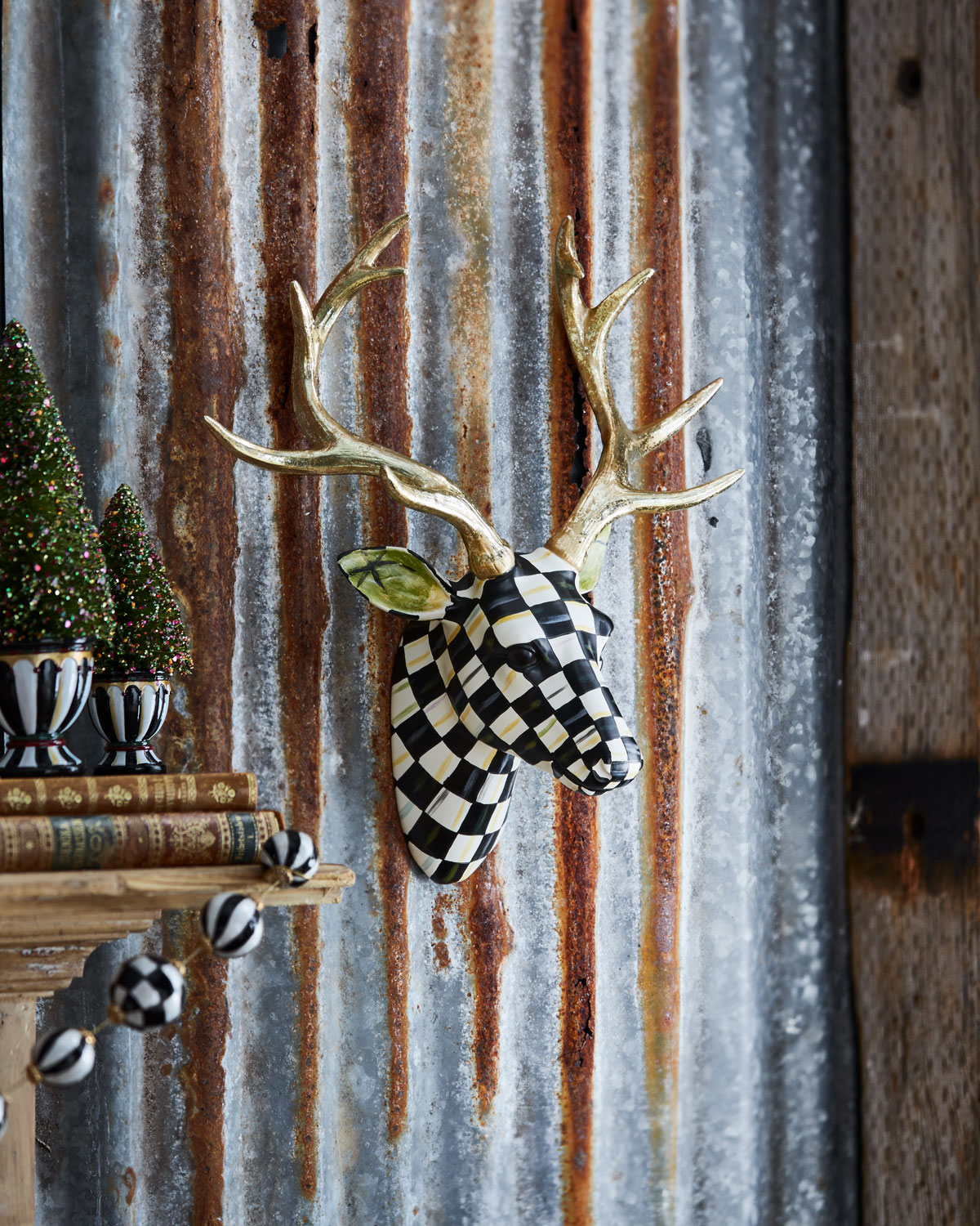 Courtly Check Small Deer Wall Mount