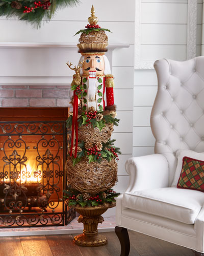 Red & Green Collection Nutcracker Topiary, 64