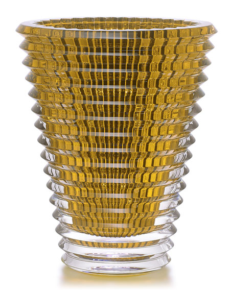 Baccarat Extra-Large Eye Vase, Amber