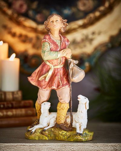 Paul the Shepherd Nativity Figurine