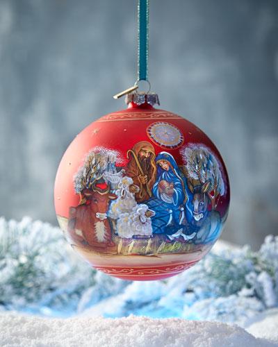 G. Debrekht Story of Nativity Ornament