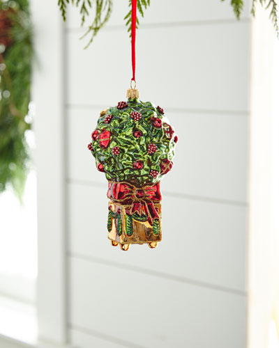 Red & Green Collection Boxwood Ornament