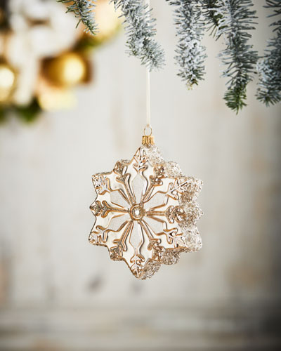 Gold & Glitter Collection Snowflake Ornament