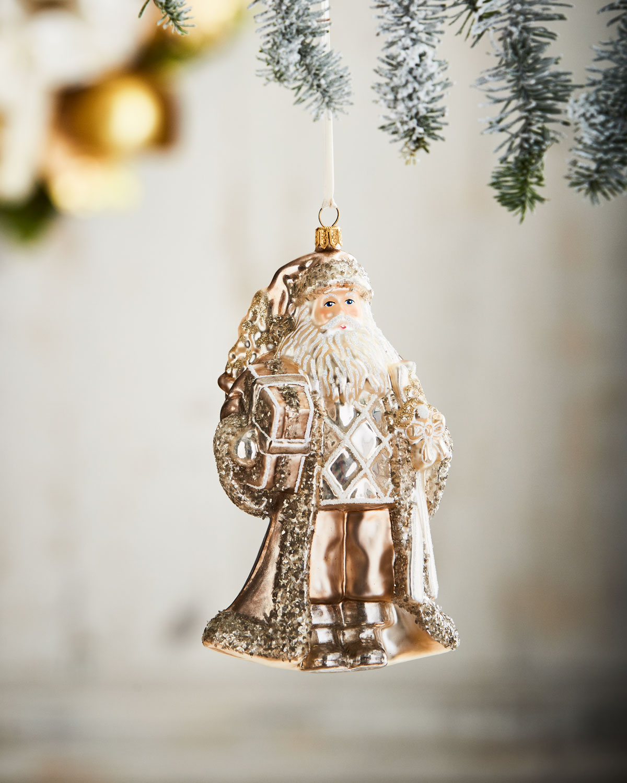 Santa with Presents Christmas Ornament