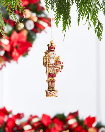 Gold & Glitter Collection Nutcracker Ornament