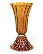 Brocade Feather Vase