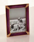 Jay Strongwater Pave Corner Picture Frame Brocade, 4