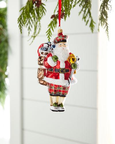 Golfing Santa Ornament