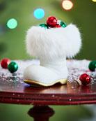Ino Schaller White Santa Boot Collectible