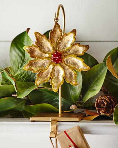 Janice Minor Flower / Golden Glitter Stocking Holder