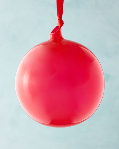 Playful Brights Collection Bubble Gum Ornament, Red