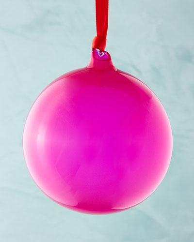 Playful Brights Collection Bubble Gum Ornament, Purple