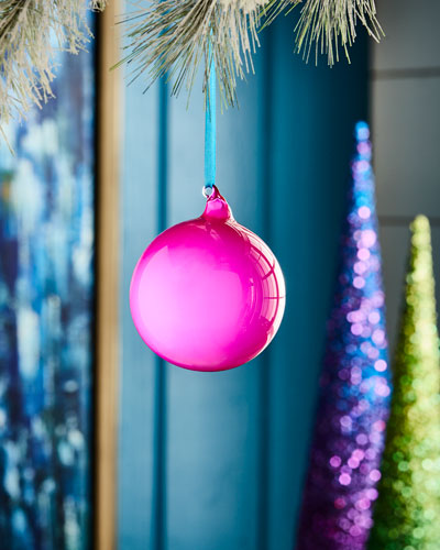 Playful Brights Collection Bubble Gum Ornament, Hot Pink
