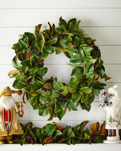 Jim Marvin Magnolia Leaf Wreath